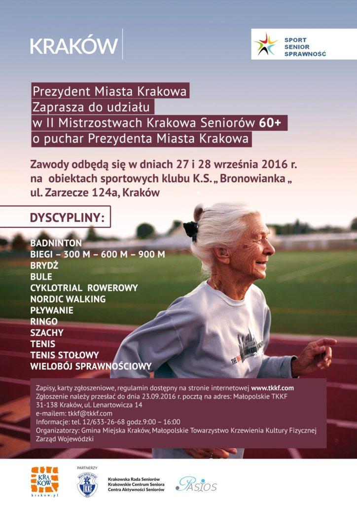 Ostateczny plakat A3 II Mistrzostwa Krakowa Seniorow